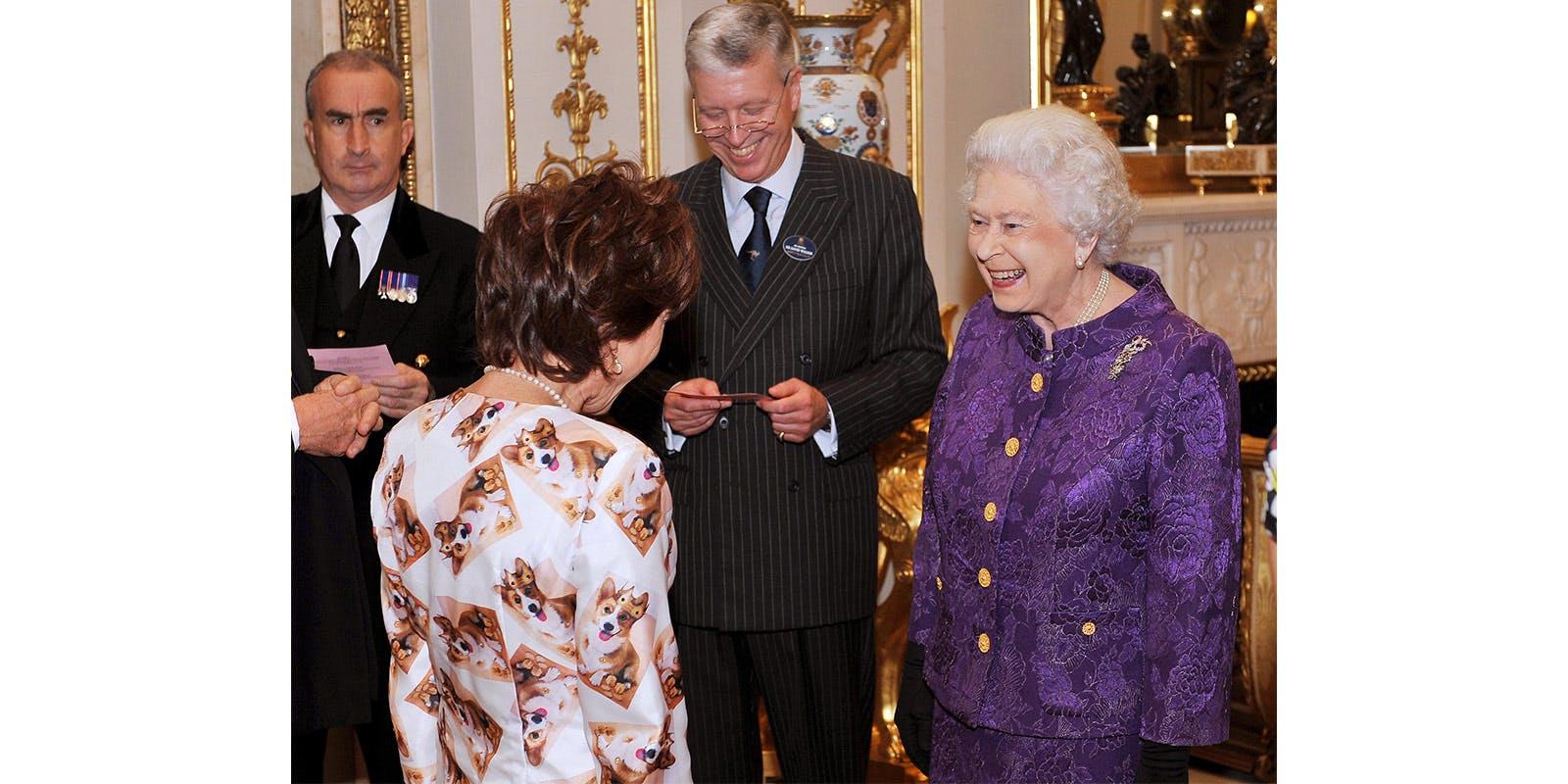Kathy Lette meets the Queen