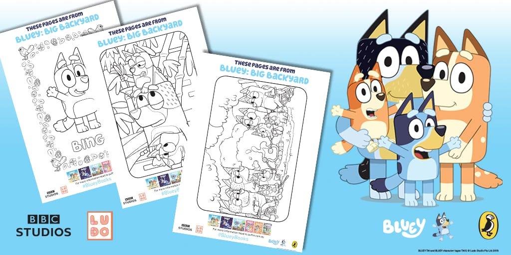 Bluey colouring-in activities for the whole family