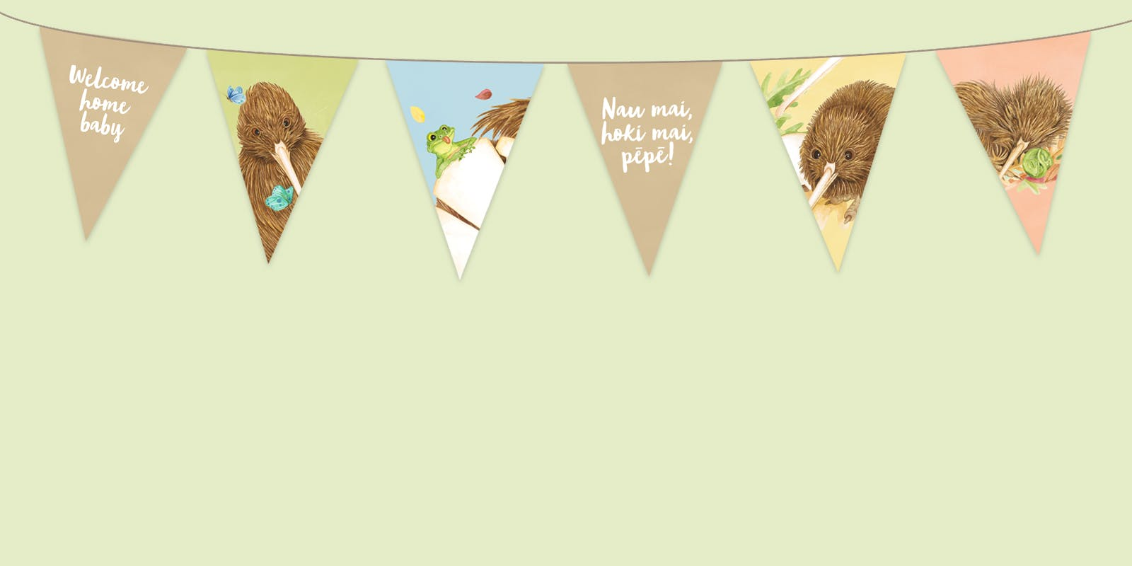 Make your own Kiwi Baby bunting!
