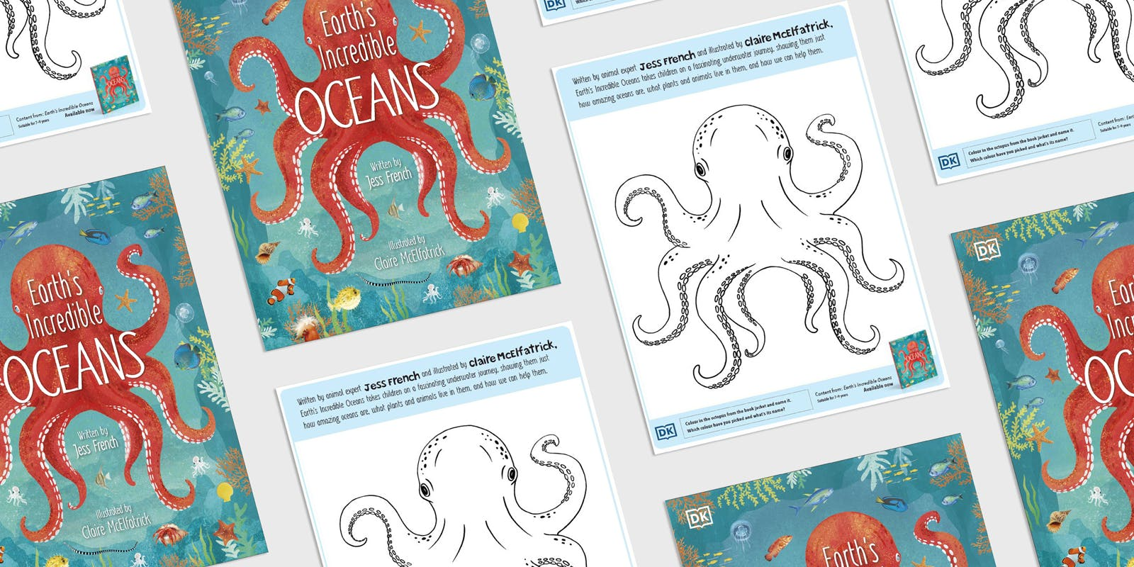 Earth's Incredible Oceans colouring sheet