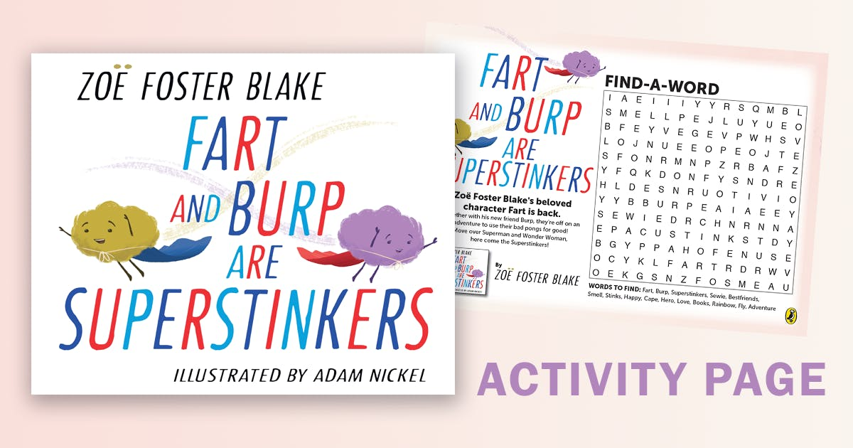 Fart and Burp are Superstinkers Activity Page