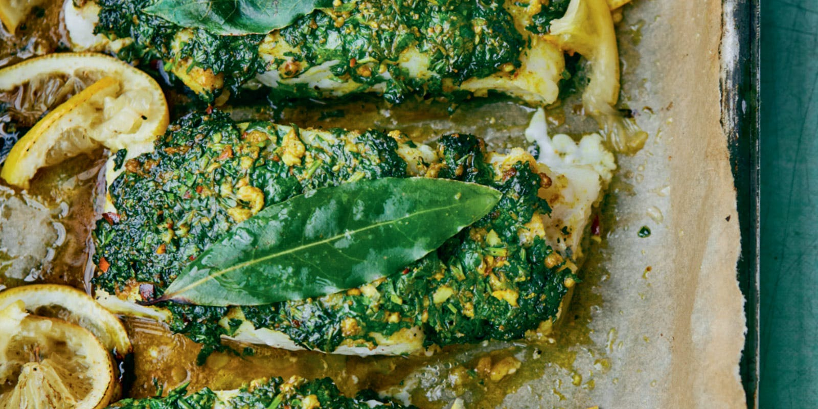 Roasted cod with a coriander crust