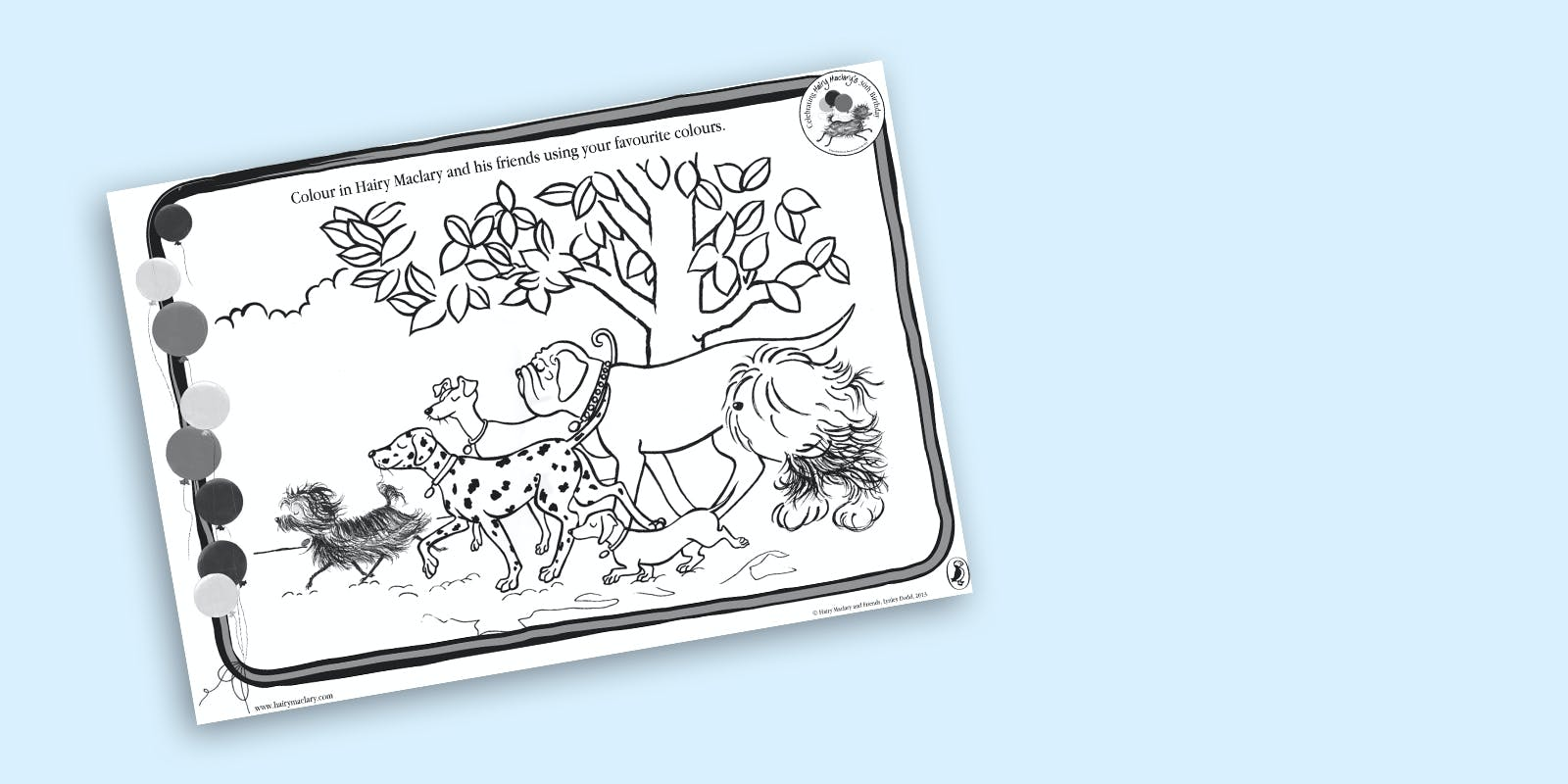 Hairy Maclary colouring page