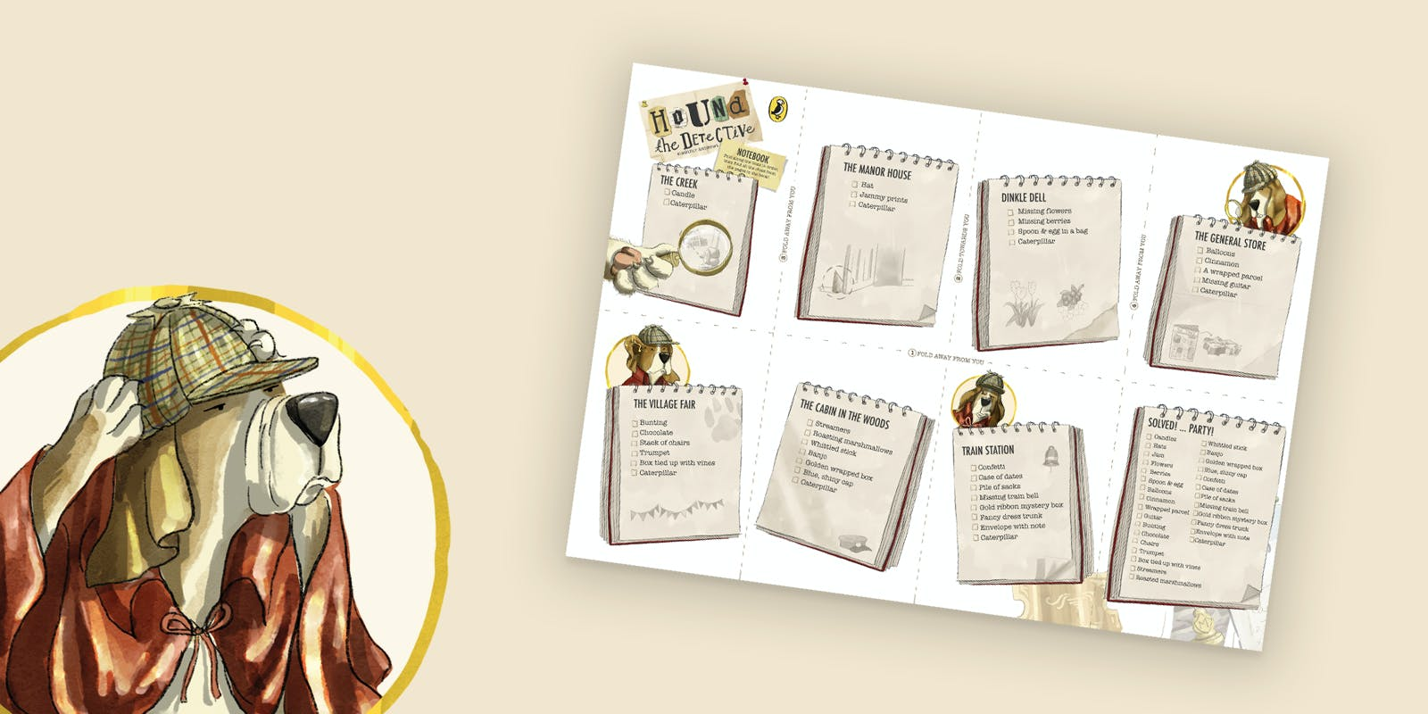 Hound the Detective printable notebook