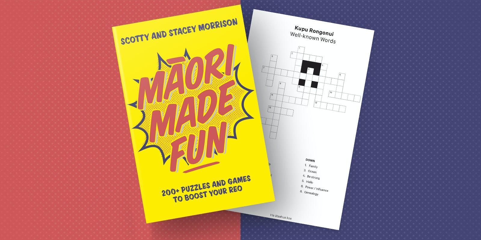 Maori Made Fun crossword: kupu rongonui (well-known words)