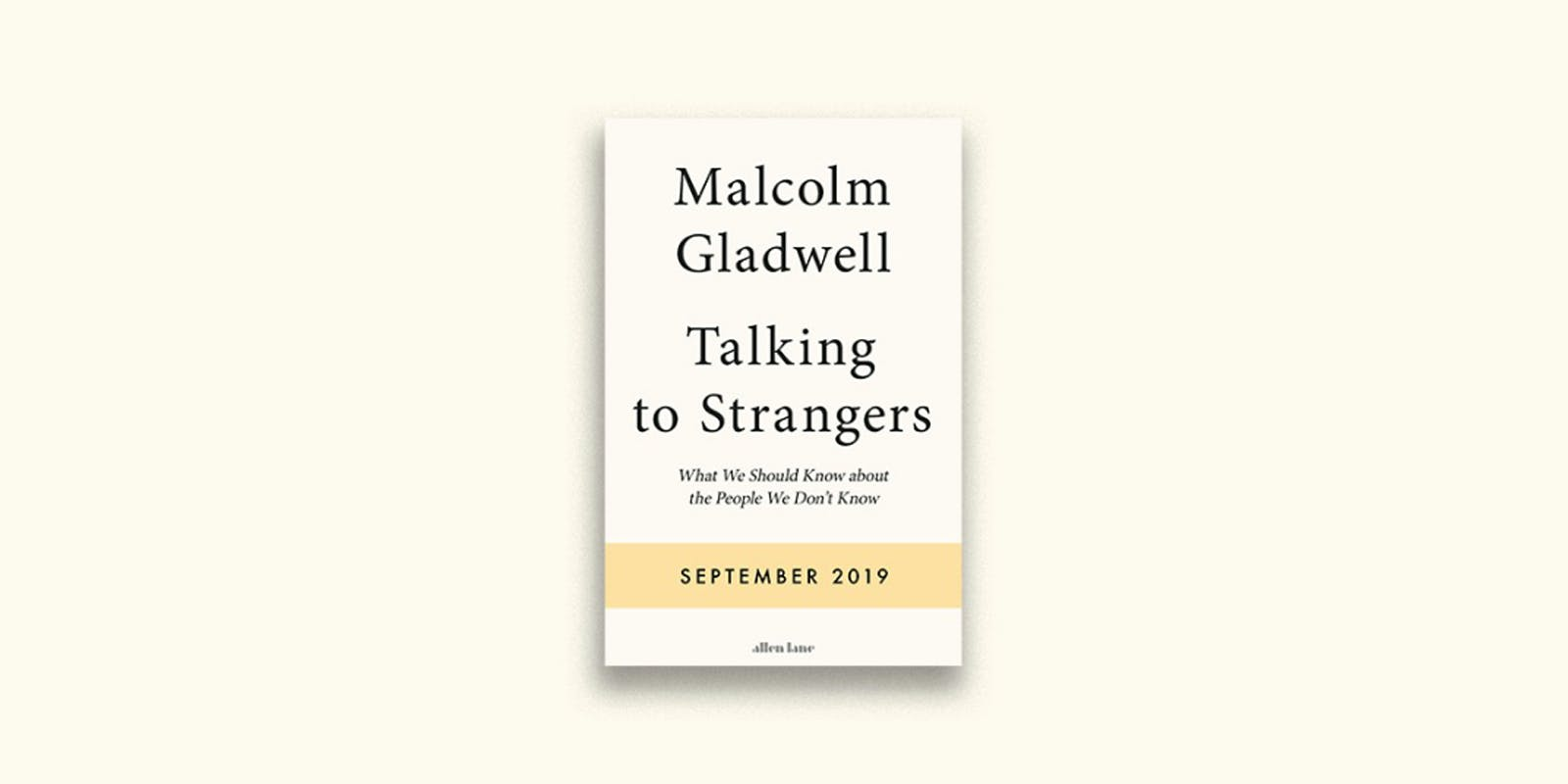 Malcolm Gladwell announces his first book in six years