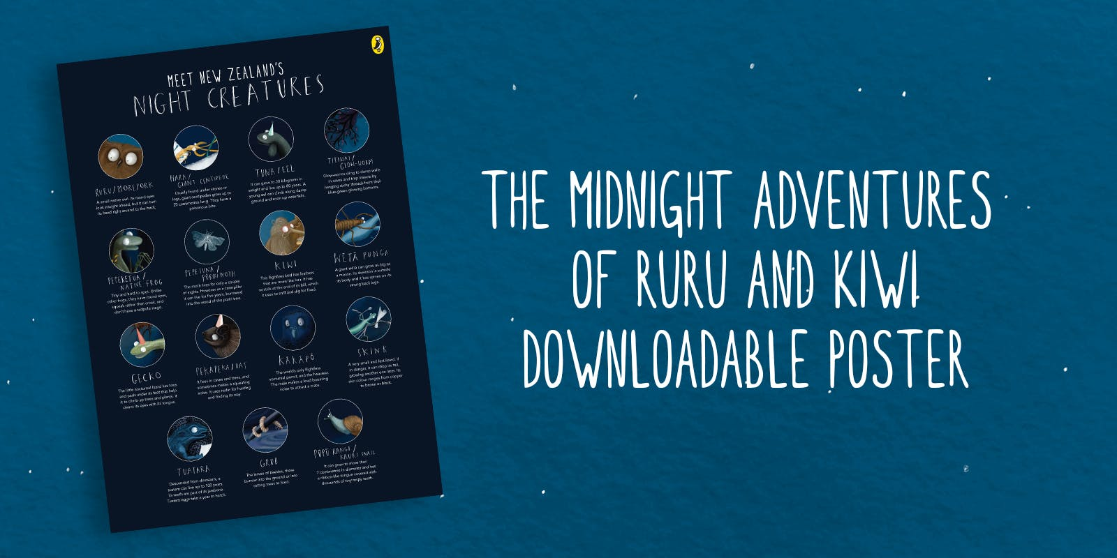 The Midnight Adventures of Ruru and Kiwi Downloadable Poster