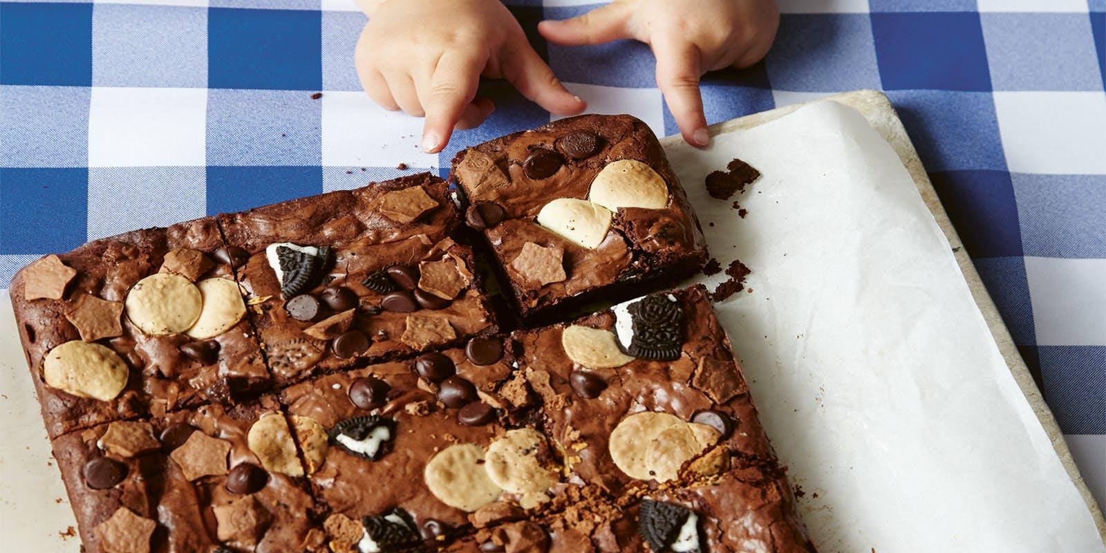'Triple threat' chocolate brownies