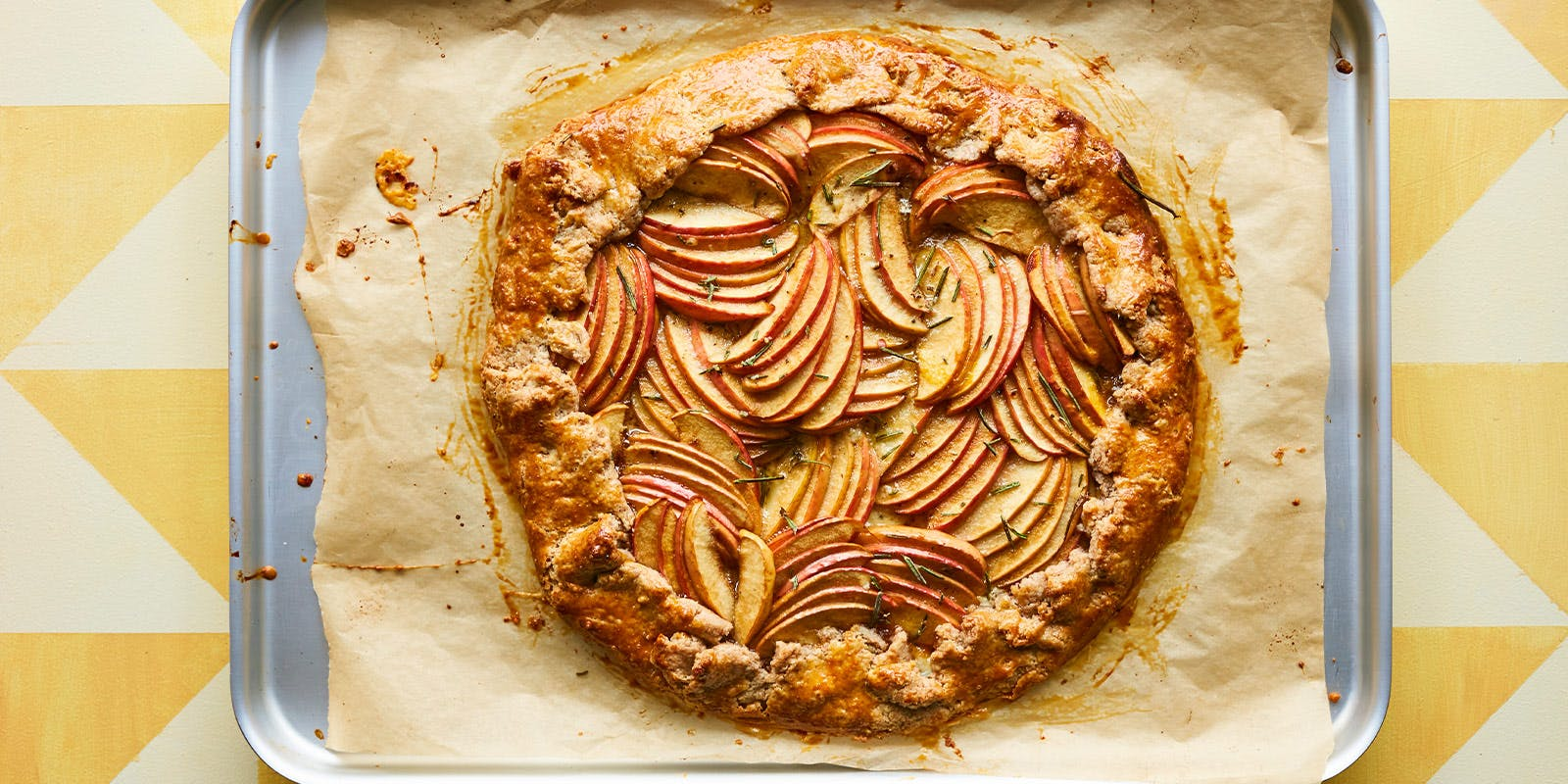 Apple, cheddar and clove galette