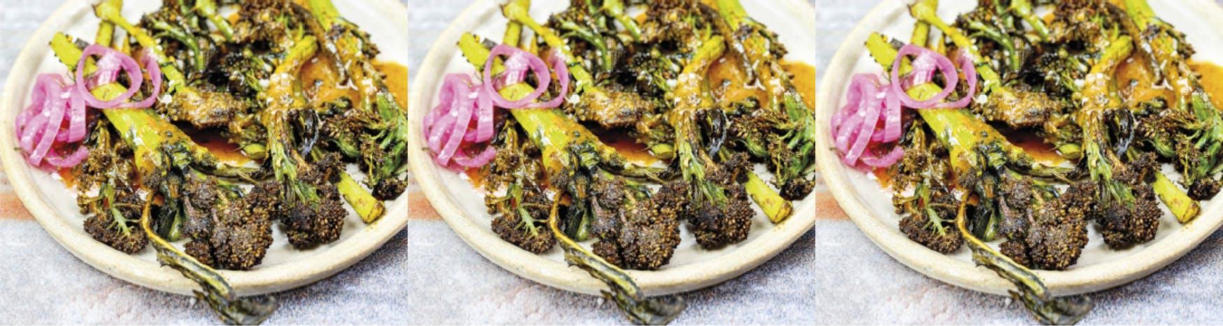 Tandoori Purple Broccoli with Masala Sauce