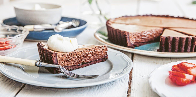 Chocolate chiffon tart