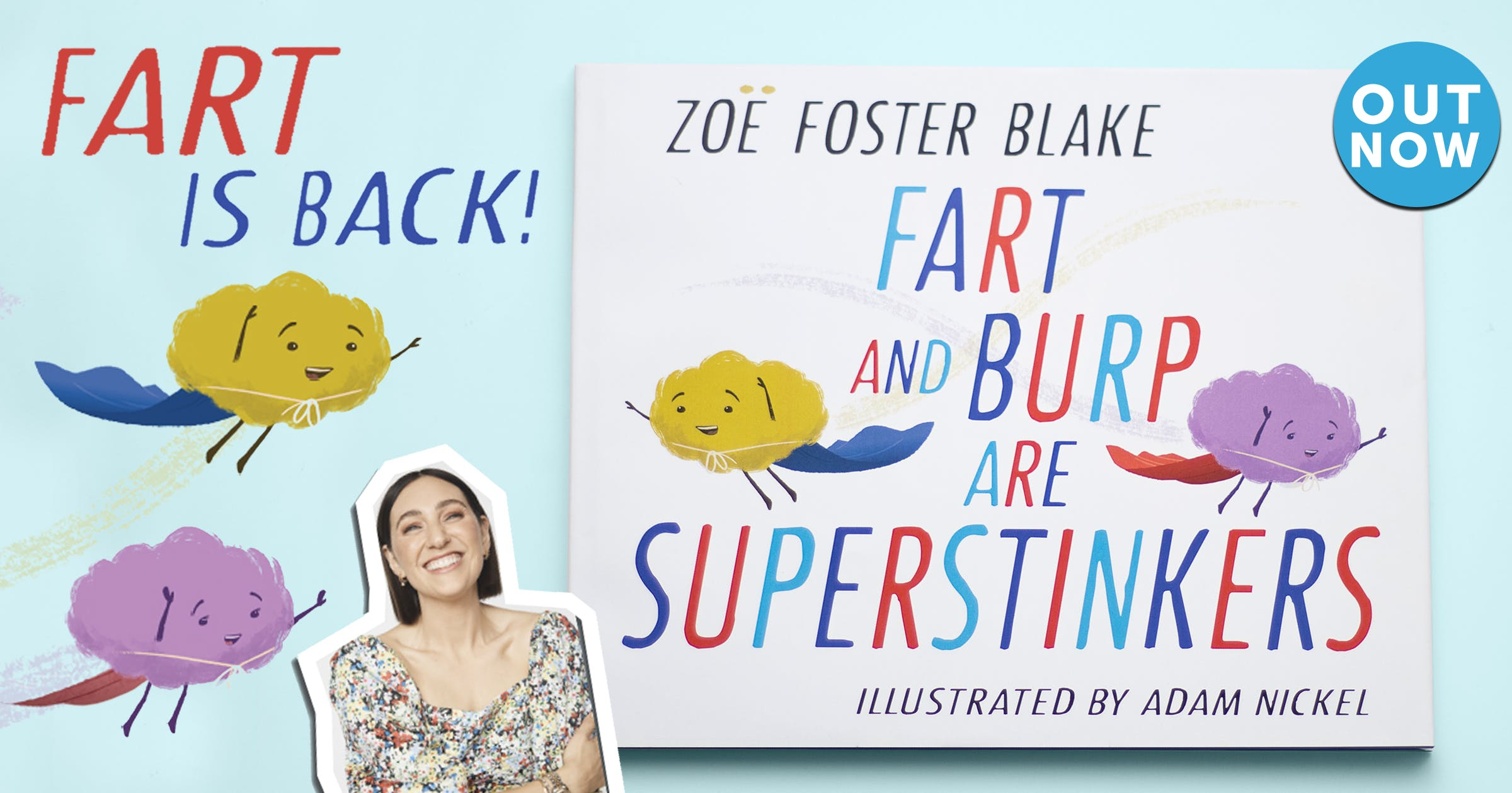Fart and Burp are Superstinkers for Book Week