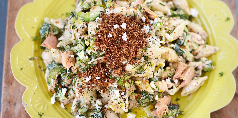 Jamie's super tuna pasta salad