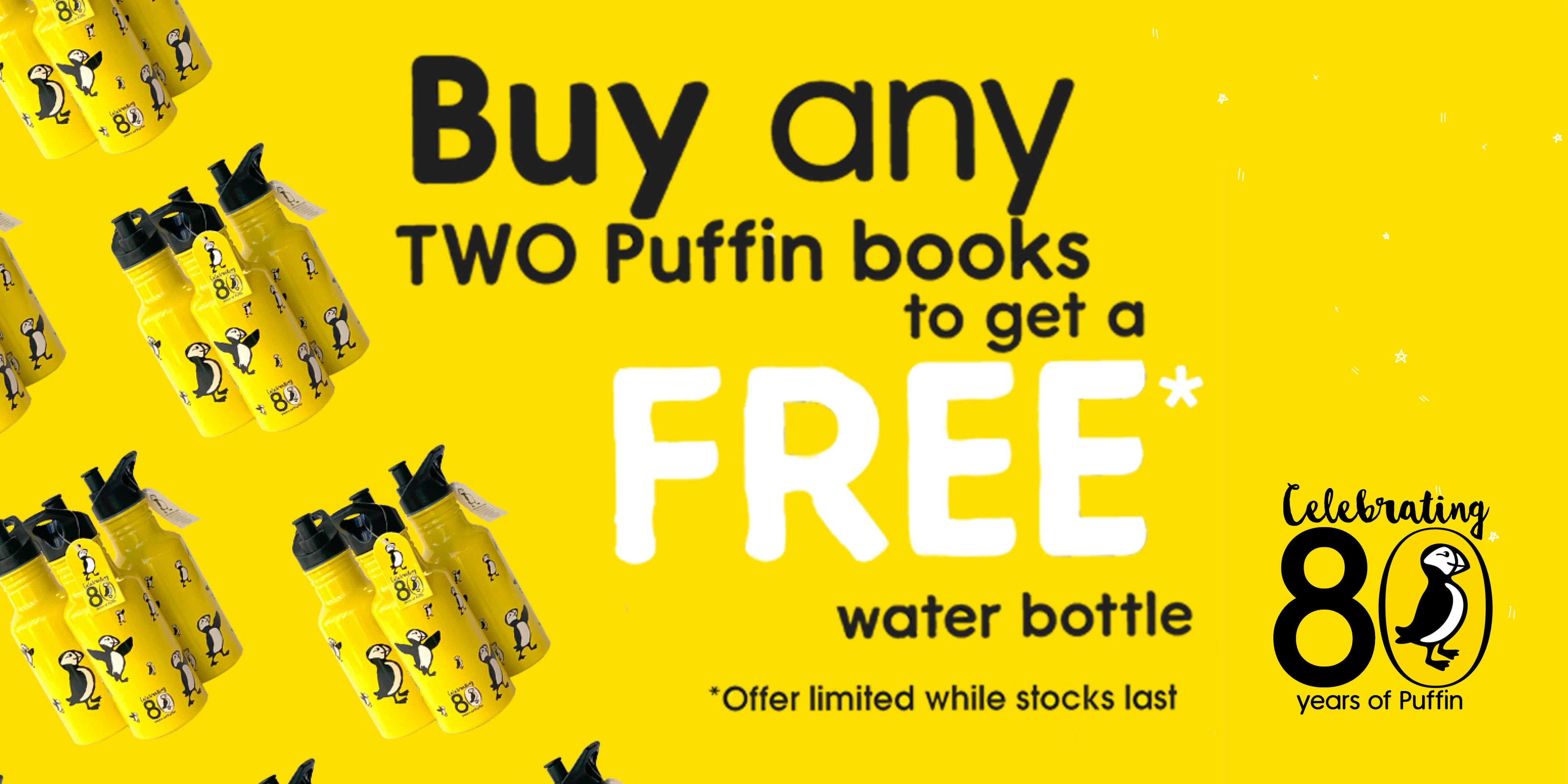 Puffin water bottles are in stores now!
