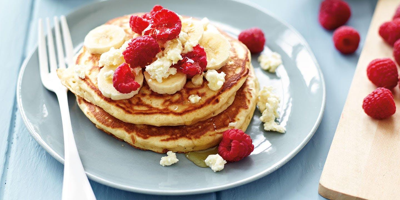 Ricotta quinoa pancakes with banana