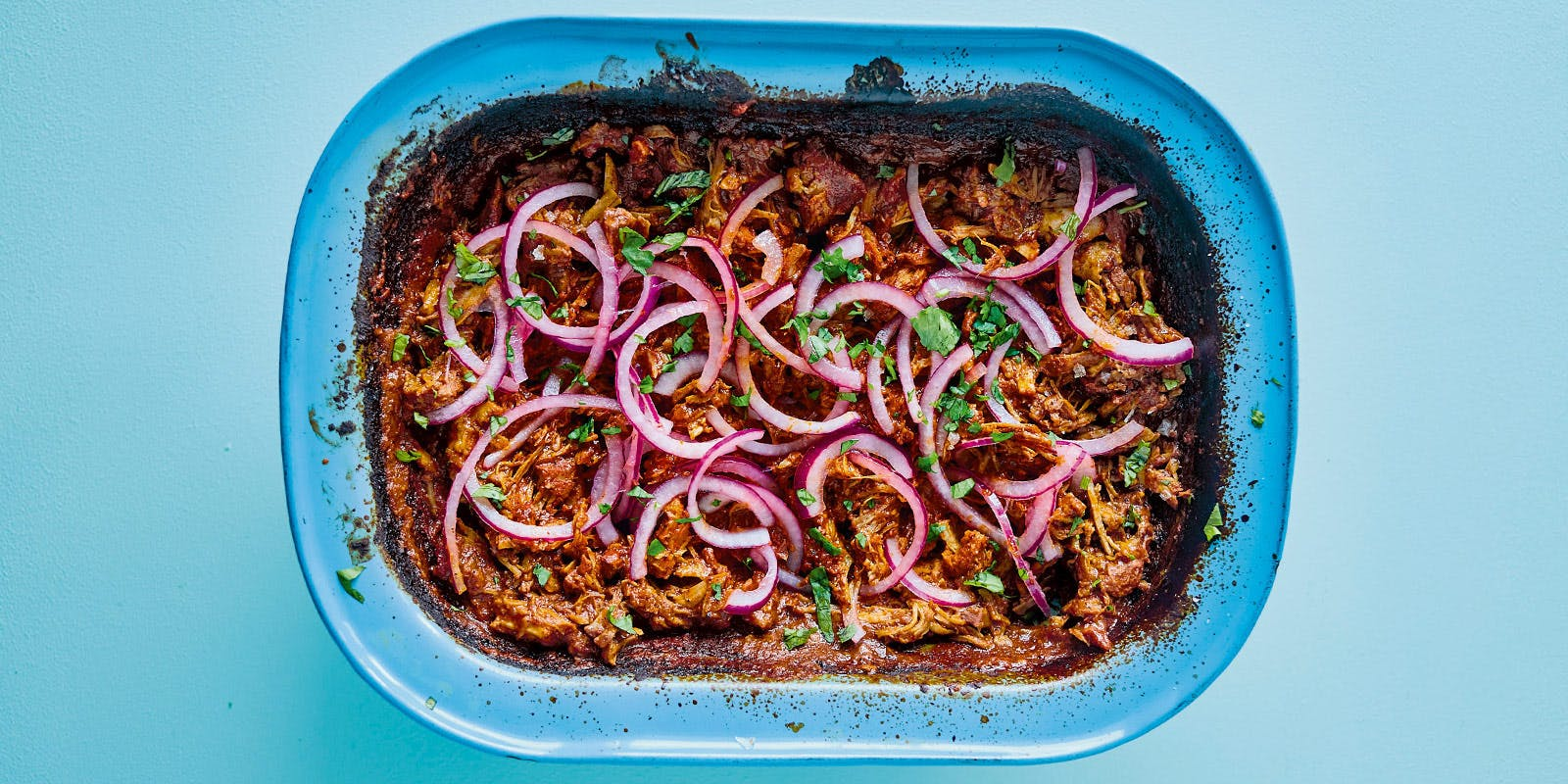 Slow-cooked pork pibil