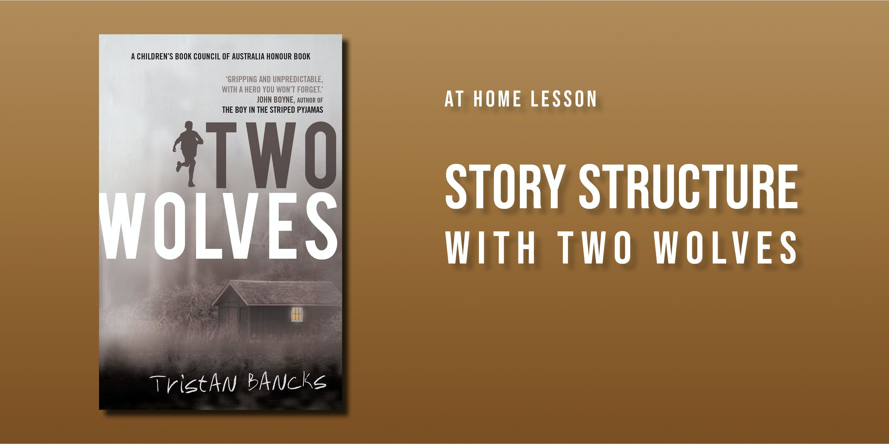 At home lesson: story structure with Two Wolves